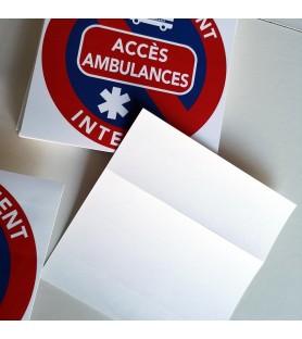 interdiction de stationner sur accès ambulances