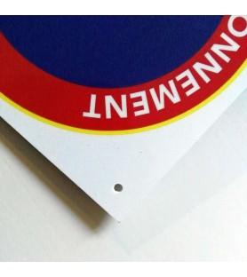 Panneau PVC interdit de stationner