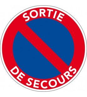 Panneau sortie de secours. Panneau stationnement interdit