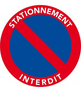 Stickers, autocollants de stationnement interdit