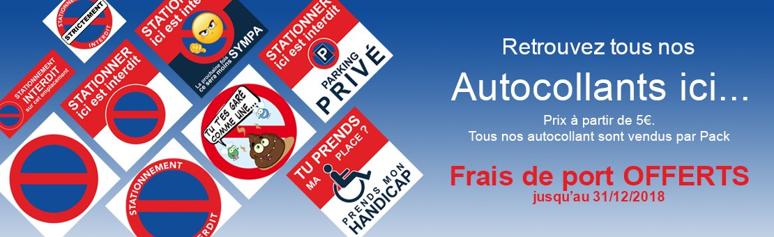 Autocollants interdiction de stationner